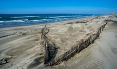 嵐の後の砂浜