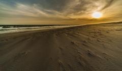 荒れた砂浜