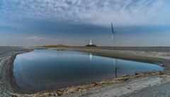 燈台と風力発電