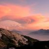 夕陽に輝く 白馬鑓が岳