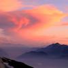 夕暮れにかかる雲