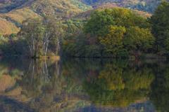 曽原湖の秋