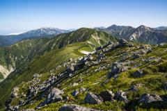 双六岳北側の景観