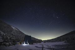 夜を迎える山荘