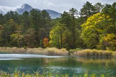 磐梯山を望んで