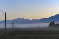 朝霧の田園