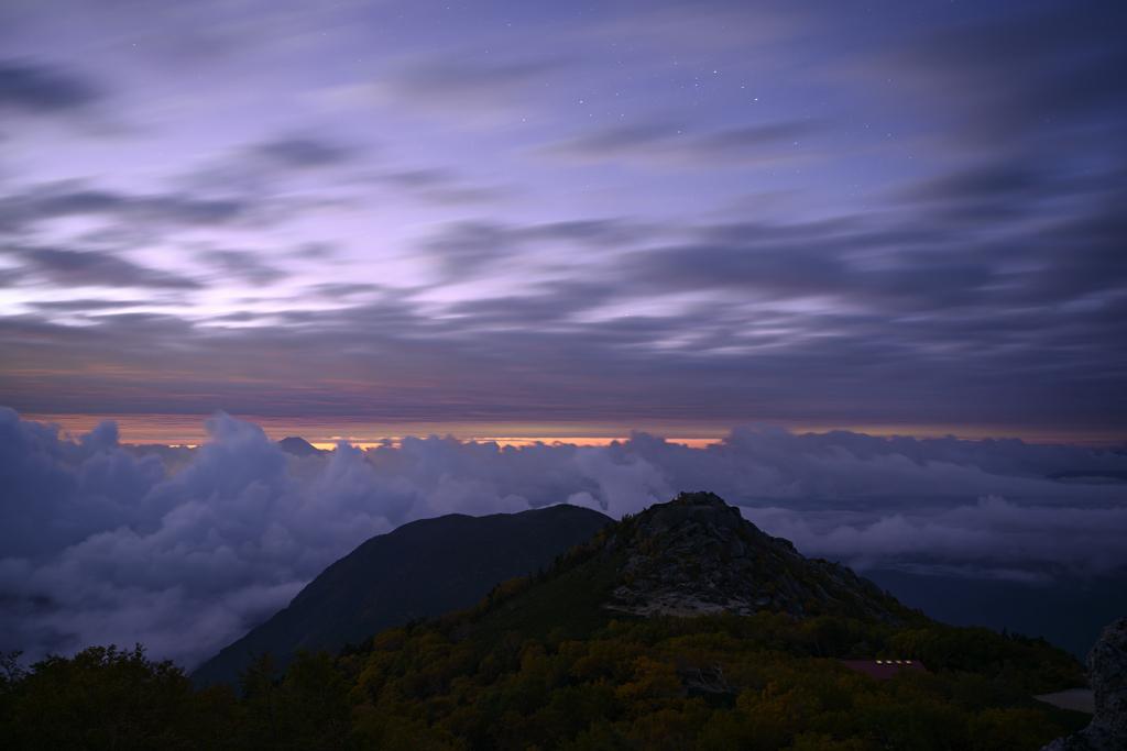 薬師岳の夜明け