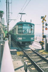 seaside train #01