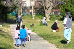 コロナ騒動の中の公園3