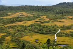 紅葉シーズン直前の静かな湿原