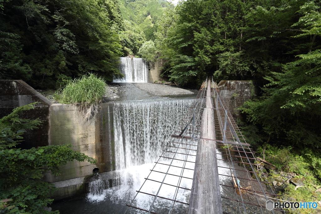 安倍の大滝への道