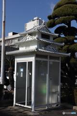 お城風の電話BOX