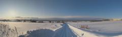 青空と雪雲