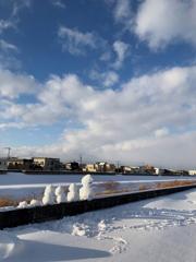 雪だるまと青空