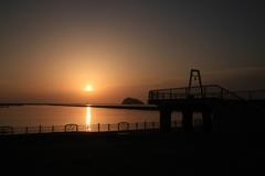 室蘭港の夕焼け -1