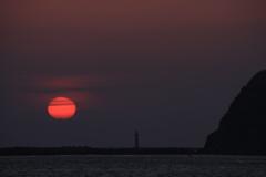 室蘭港の夕焼け -3