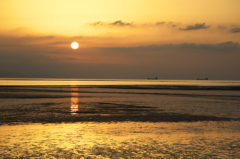 夕陽の有明海