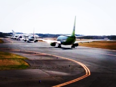 Waiting for takeoff