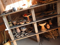 煮炊屋 食材棚