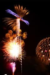 手賀沼の花火 ①