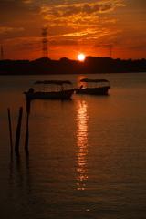 Sunset in Tega
