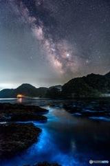 海のオーロラ。宇宙の川。