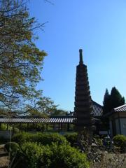 世尊寺、十三重塔。