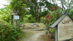 東塔跡と菩提樹。