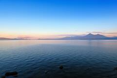 定点観測8 ~夜明け直後の猪苗代湖~