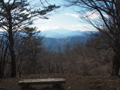 三頭山からの富士山