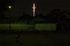 towerのある風景~夜の公園にて