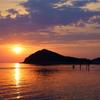 The setting sun in Seto.