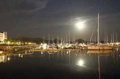 Harbor of the moonlit night