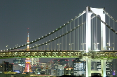 Night view of Tokyo.