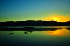 Sunrise green flash