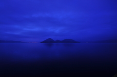 Calm deep blue