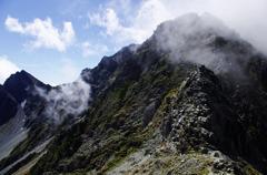 岩稜の尾根