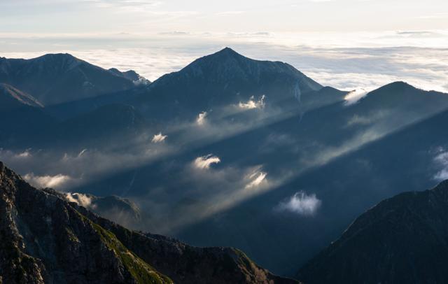 常念山脈の写真(画像)・写真集 -...