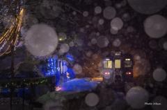 雪舞う通洞