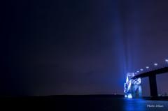 青い光の柱