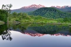 爽昧の高原池