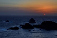 愛逢岬の日没