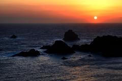 愛逢岬の夕景