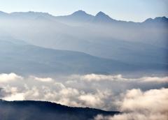 八ヶ岳雲海と靄