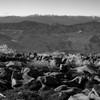 蓼科山頂上で遊ぶ