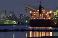 ある港にて 夕景