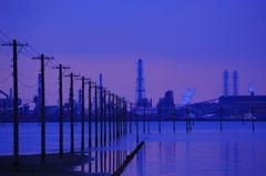 落日の工業団地