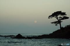 富嶽よ永遠に~満月に淡いシルエット