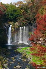 紅葉と白糸の滝