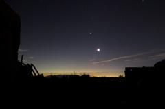 五合目の月星とブル